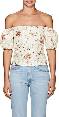 Brock Collection Women's Boie Floral Silk Off-The-Shoulder Blouse