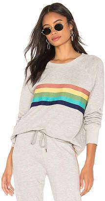 Sundry Rainbow Stripes Raglan Pullover