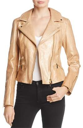 Karen Millen Metallic Gold Leather Jacket - 100% Exclusive