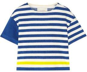 Solid & Striped The Tee Striped Cotton-Blend Terry Top