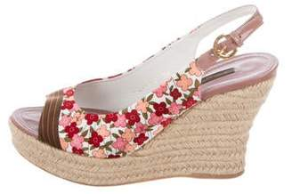 Louis Vuitton Floral Satin Espadrilles