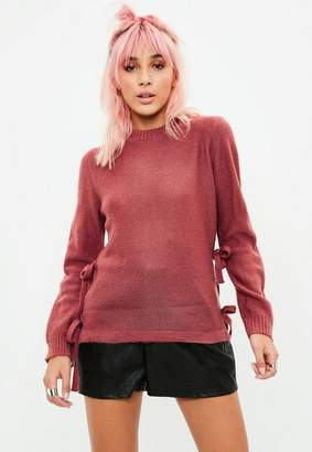 Missguided Red Knit Sweater