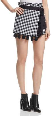MISA Los Angeles Kayin Gingham Skort
