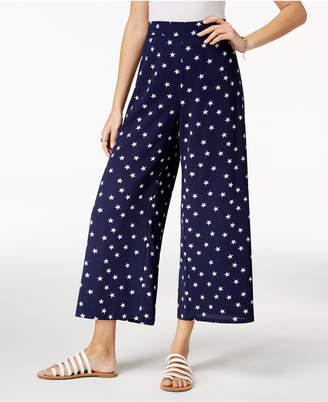 Ultra Flirt By Ikeddi Juniors' Star-Print Cropped Pants