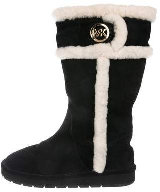 Michael Kors Suede Mid-Calf Boots