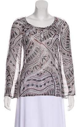 Trina Turk Silk Long Sleeve Blouse w/ Tags