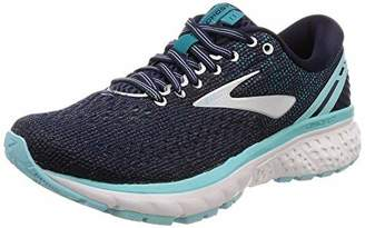 Brooks Women's Ghost 11 D Width Running Shoe (BRK-120277 1D 40855B0 10 NAY/Gry/BLU)