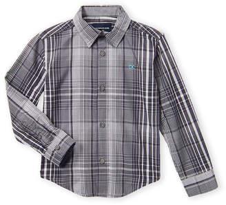 Calvin Klein Jeans Boys 4-7) Plaid Long Sleeve Sport Shirt