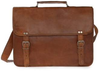 VIDA VIDA - Vida Vintage Classic Leather Laptop Bag 15 Inch