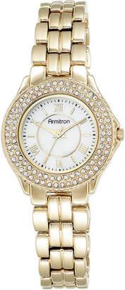 Armitron Womens Crystal-Accent Gold-Tone Bracelet Watch 75/5332MPGP