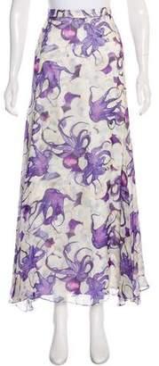 Isolda Abstract Print Maxi Skirt
