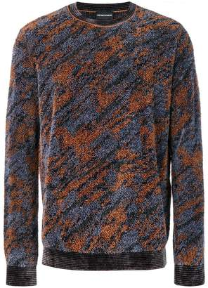 Emporio Armani camouflage patterned jumper