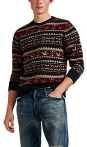 RRL Men's Fair Isle Wool-Blend Sweater - Navy