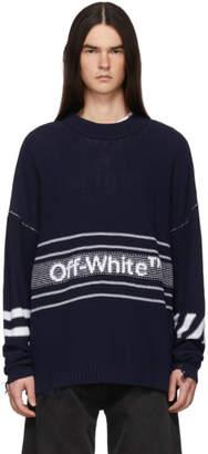 Off-White Navy Logo Sweater