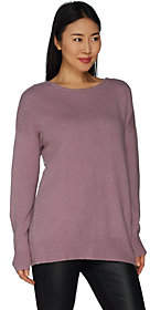 Du Jour Drop Shoulder Long Sleeve Cross BackSweater Tunic