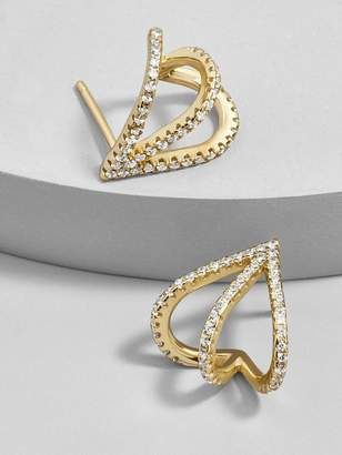 BaubleBar Stretta 18K Gold Plated Huggie Hoop Earrings