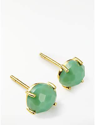 John Lewis & Partners Semi-Precious Stone Stud Earrings, Chrysoprase
