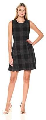 Savoir Faire Dresses Women's Sleeveless Tartan Pattern Jacquard Dress