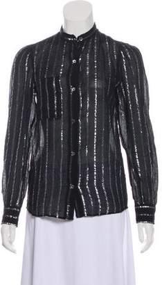Etoile Isabel Marant Metallic Button-Up Top