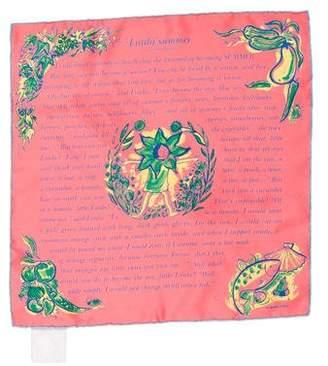Hermes L'Ete de Loula Silk Pocket Square