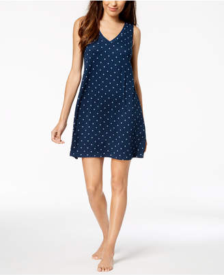 Alfani Knit Star-Print Chemise, Created for Macy's