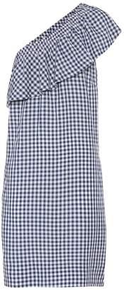 Velvet Virgie asymmetrical checked dress