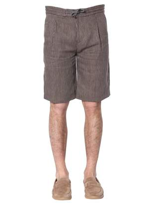 Brunello Cucinelli Striped Drawstring Shorts