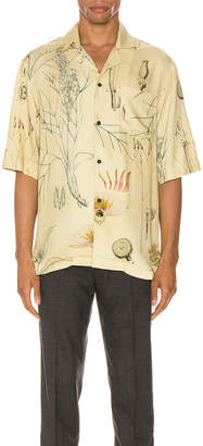 Acne Studios Simon Print Shirt in Botanical Print | FWRD