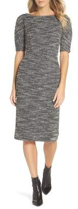 Maggy London Textured Arc Sheath Dress