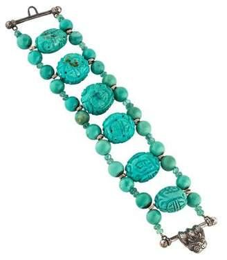 Stephen Dweck Turquoise & Tourmaline Bead Bracelet