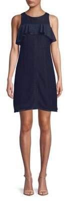 Ellen Tracy Flounce Yoke Sleeveless Dress