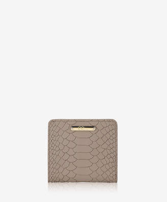 GiGi New York Mini Foldover Wallet, Acai Embossed Python