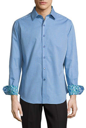Robert Graham Baron Woven Cotton Sport Shirt