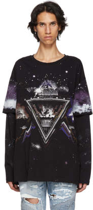 Balmain Black Pyramid Long Sleeve T-Shirt