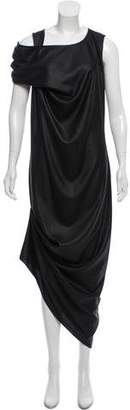 Nellie Partow Sleeveless Draped Maxi Dress