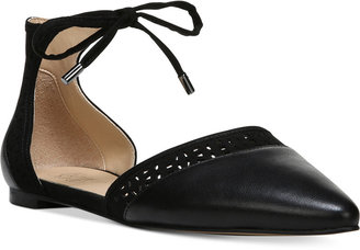 Franco Sarto Shirley Pointed-Toe Ankle Tie Flats $89 thestylecure.com