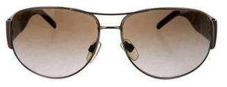 Burberry Tortoiseshell Aviator Sunglasses