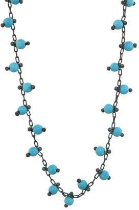 Ten Thousand Things Double Studded Turquoise Chain Choker Necklace