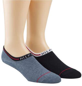 Tommy Hilfiger Men's 2 Pack No-Show Liner Socks