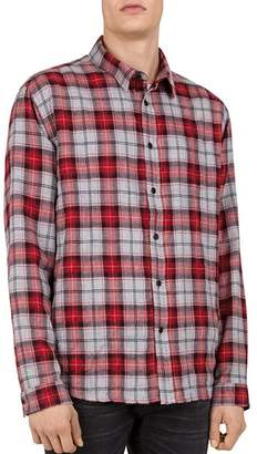 The Kooples Checked Regular Fit Button-Down Shirt