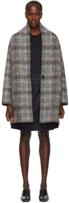 Etoile Isabel Marant Black and White Eabrie Wool Coat