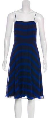 Halston H by Knee-Length Silk Dress
