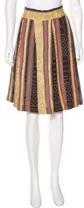 Dries Van Noten Embroidered Striped Skirt