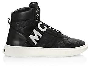 MCM Men's High-Top Strap Sneakers