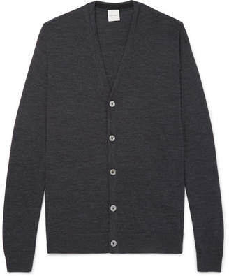 Paul Smith Melange Merino Wool Cardigan - Charcoal