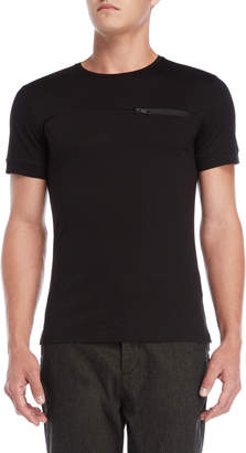 Antony Morato Black Zipper Pocket Tee