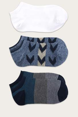 Frye No Show Socks Three-Pack - Womens
