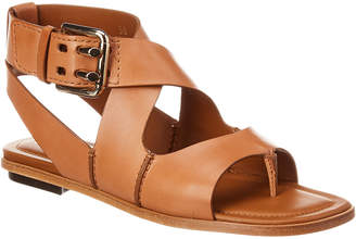 Tod's Crisscross Leather Sandal