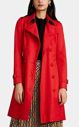 Burberry Women's Chelsea Cotton Twill Trench Coat - Red