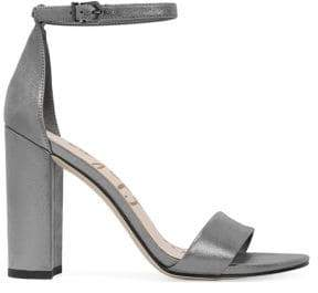 Sam Edelman Yaro Metallic Leather Ankle Strap Sandals
